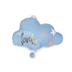 Μαξιλαράκι συννεφάκι σιέλ με μουσική 38x27εκ
