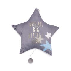 Υφασμάτινο μαξιλάρι αστέρι με μουσική 42εκ