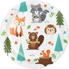 Χάρτινα πιάτα γλυκού Woodlands animals 8τεμ