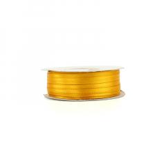 Κορδέλα σατέν διπλής κίτρινο κροκί 3mm 100m