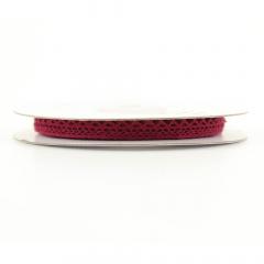 Κορδέλα δαντέλα βαμβακερή σε κόκκινο χρώμα 8mm* 9.5m