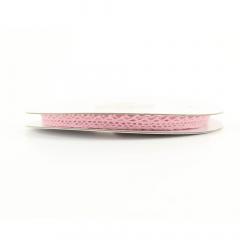 Κορδέλα δαντέλα βαμβακερή σε ροζ χρώμα 8mm