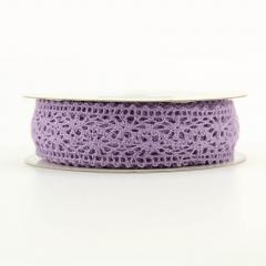 Κορδέλα βαμβακερή δαντελωτή σε μοβ χρώμα