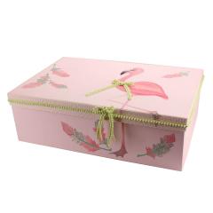Κουτί βάπτισης χάρτινο με θέμα Φλαμίγκο