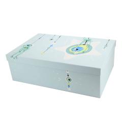 Κουτί βάπτισης χάρτινο με θέμα μάτι