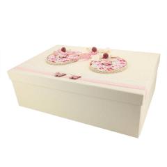 Κουτί βάπτισης χάρτινο με θέμα πεταλούδα