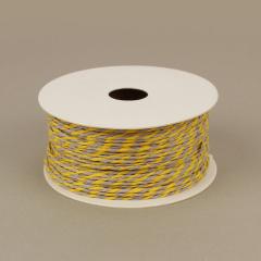Κορδόνι χάρτινο κίτρινο-γκρι 2mm 50μ