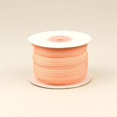 Κορδέλα βαμβακερή ροζ με ραφή 6mm