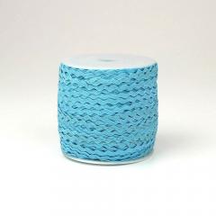 Κορδέλα ζικ ζακ γαλάζια 3mm