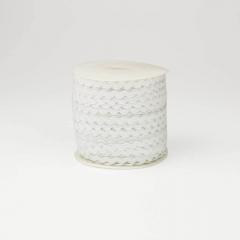 Κορδέλα ζικ ζακ λευκή 3mm/100m