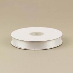 Κορδέλα σατέν διπλής όψεως λευκό 15mm 50m