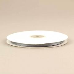 Κορδέλα σατέν διπλής όψης 6mm γκρι