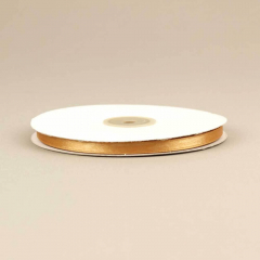 Κορδέλα σατέν διπλής όψης 6mm χρυσαφί