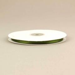 Κορδέλα σατέν διπλής όψης 6mm πράσινο σκούρο