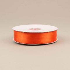 Κορδέλα σατέν διπλής όψης πορτοκαλί 25mm 50m