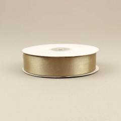 Κορδέλα σατέν διπλής όψης καφέ ανοιχτό 25mm 50m