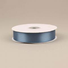Κορδέλα σατέν διπλής όψης denim μπλε 25mm 50m