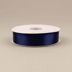Κορδέλα σατέν διπλής όψης navy blue 25mm 50m
