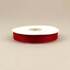 Κορδέλα οργάντζα με ούγια 15mm κόκκινο σκούρο