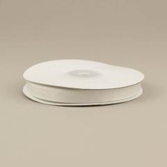 Κορδέλα οργάντζα με ούγια 10mm λευκή