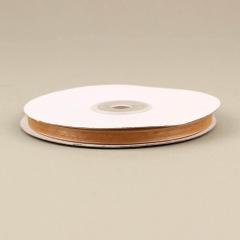 Κορδέλα οργάντζα με ούγια 6mm καμηλό