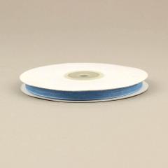 Κορδέλα οργάντζα με ούγια 6mm x 50m σιέλ