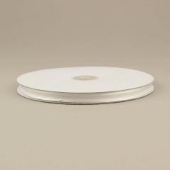 Κορδέλα οργάντζα 10mm με σατέν περίγραμμα λευκή