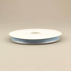 Κορδέλα οργάντζα 15mm με σατέν περίγραμμα σιέλ