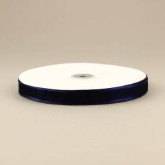 Κορδέλα οργάντζα 15mm με σατέν περίγραμμα μπλε σκούρο