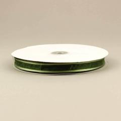 Κορδέλα οργάντζα 15mm με σατέν περίγραμμα λαδί