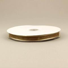 Κορδέλα οργάντζα 15mm με σατέν περίγραμμα καμηλό