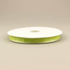 Κορδέλα οργάντζα 15mm με σατέν περίγραμμα πράσινο ανοιχτό