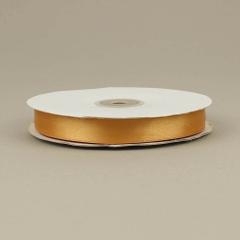 Κορδέλα σατέν διπλής όψης μπρονζέ 15mm 50m