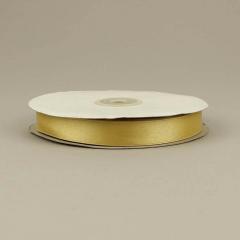 Κορδέλα σατέν διπλής όψης χρυσό ανοιχτό 15mm 50m