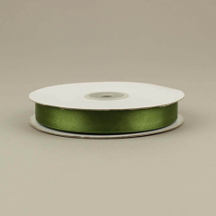 Κορδέλα σατέν διπλής όψης λαδί 15mm 50m