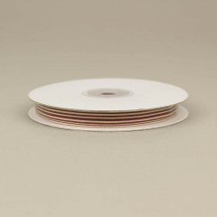 Κορδέλα ριγέ εκρού με βυσσινί γραμμές 9mm