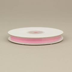 Κορδέλα ριγέ με ροζ γραμμές 9mm