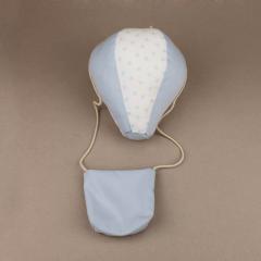 Μαξιλάρι υφασμάτινο με σχήμα αερόστατο σιέλ