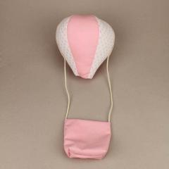 Μαξιλάρι υφασμάτινοαερόστατο ροζ