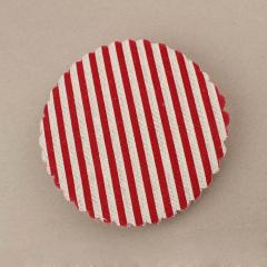 Πανάκι στρογγυλό κόκκινο ριγέ μοτίβο 12 5 εκ. διάμετρος/50τεμ