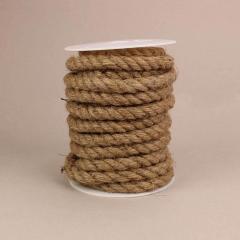 Κορδόνι λινάτσας σε φυσικό χρώμα 15mm x 5m