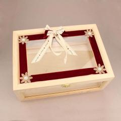 Κουτί ευχών γάμου με βελούδινες λεπτομέρειες