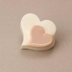 Χειροποίητο σαπουνάκι σε σχήμα διπλής καρδιάς