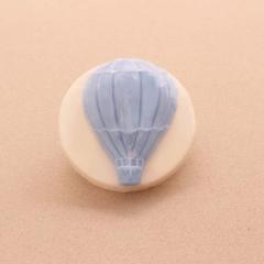Χειροποίητο σαπουνάκι στρογγυλό με αερόστατο