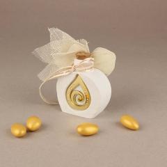 Μπομπονιέρα γάμου πήλινο μπουκαλάκι
