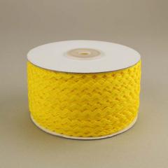 Κορδέλα ζικ ζακ κίτρινη 3mm/100m