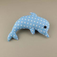 Διακοσμητικό μπομπονιέρας υφασμάτινο δελφίνι