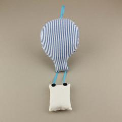 Μπομπονιέρα βάπτισης κρεμαστό υφασμάτινο αερόστατο