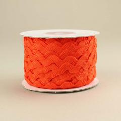 Κορδέλα ζικ ζακ πορτοκαλί 7mm/25m