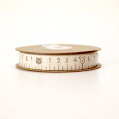 Κορδέλα μεζούρα καφέ ζωάκια 15mm*18m